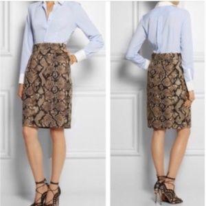 ALTUZARRA for Target Snakeskin Shirt Dress Size 10